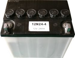 Leoch MC-Batteri 12N24-4  12V 24Ah