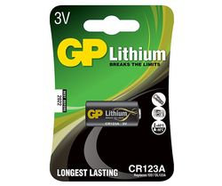 Lithium batteri 3V GP CR123A