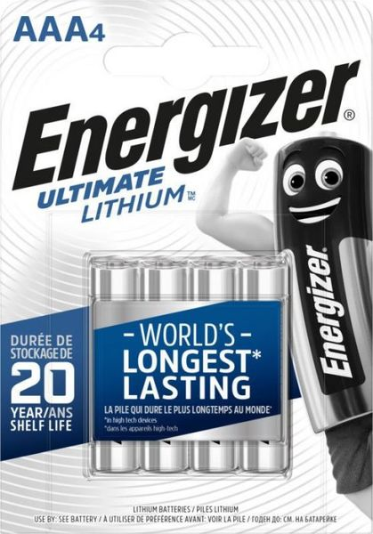 Energizer Ultimate Lithium AAA paristo 4kpl